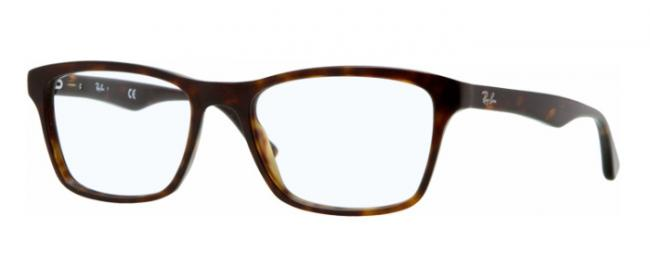 Ray Ban Ray-Ban Kunststoff Brille RX 5279 2012 Größe 55/18 in der Farbe dunkel havana/ dark havana