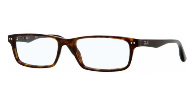 Ray Ban Ray-Ban Kunststoff Brille RX 5277 2012 Größe 52/17 in der Farbe dunkel havanna /dark havana