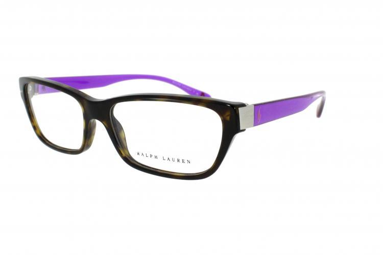 Ralph Lauren Kunststoff Brille 6092 5362 Gr.54 in der Farbe dark havana / dunkel havana