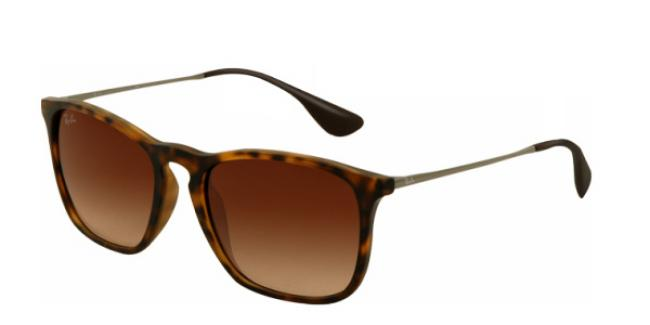 Ray Ban Ray-Ban Sonnenbrille Chris RB 4187 856/13 in der Farbe rubber havana / havana gummiert