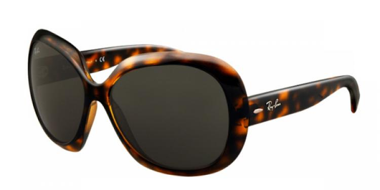 Ray Ban Ray-Ban Sonnenbrille Jackie Ohh II RB 4098 710/71 Gr. 60 in der Farbe shiny havana / havanna glanz Größe 60