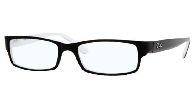 Ray Ban Ray-Ban Kunststoff Brille RX 5114 2097 Gr.54 in der Farbe schwarz mit weißen Rand