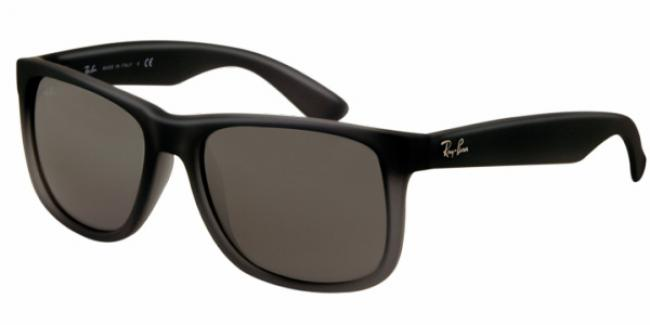 Ray Ban Ray-Ban Sonnenbrille Justin RB 4165 852/88 Gr. 54 in der Farbe rubber gray transparent