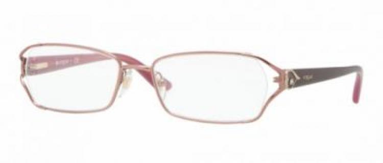 Vogue Metall Brille VO 3798 756-S Gr.53 in der matte light pink/ matt helles pink