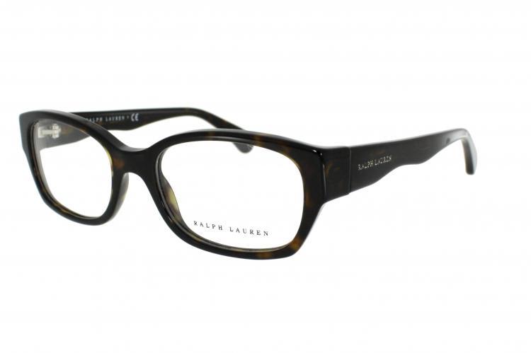 Ralph Lauren Kunststoff Brille 6098 5003 Gr.51 in der Farbe dark havana / dunkel havana
