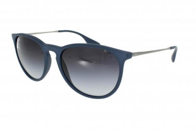 Ray Ban Sonnenbrille Erika RB 4171 60028G in der Farbe rubber blue blau gummiert