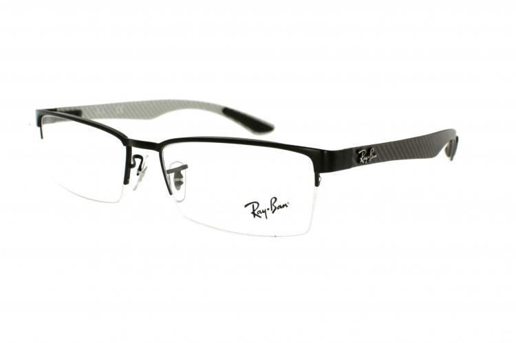 Ray Ban Ray-Ban Kunststoff Brille RX 8412 2503 Gr.52 in der Farbe matte black / matt schwarz
