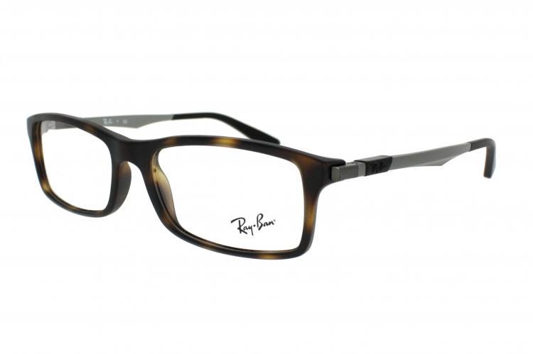 Ray Ban Ray-Ban Kunststoff Brille RX 7017 5200 Gr. 54 in der Farbe matte havana / matt havanna