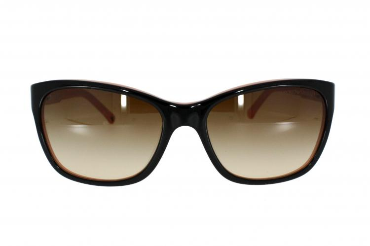 speziell für Schuh sehr schön Mode-Design Emporio Armani Sonnenbrille EA 4004 504613 Gr. 56 in der Farbe Black on  Rosa / Brown Gradient