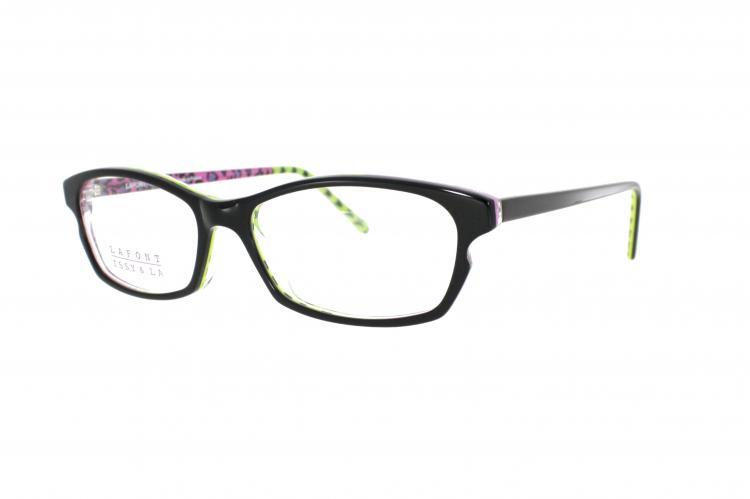 Lafont - ISSY & LA Brille Liberty 134 Gr. 50 in Schwarz/Gelb-Pink hinterlegt