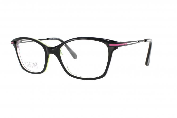Lafont - ISSY & LA Brille Margot 134 Gr. 50 in Schwarz/Pink Grün hinterlegt