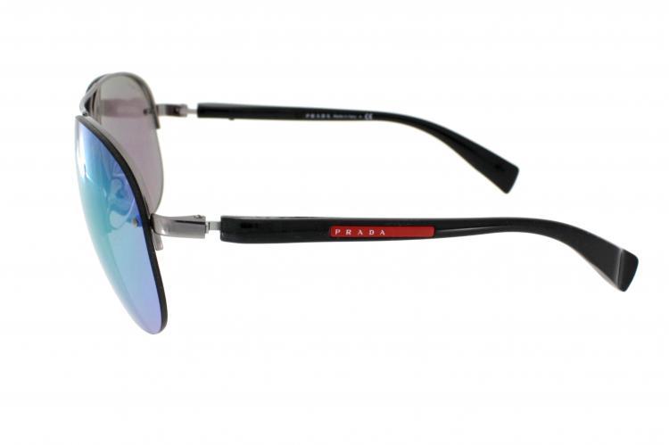 3a4ac6c25ec8e ... Prada Sport Sonnenbrille PS 56MS 5AS1M2 in der Farbe pewter    dunkelsilber