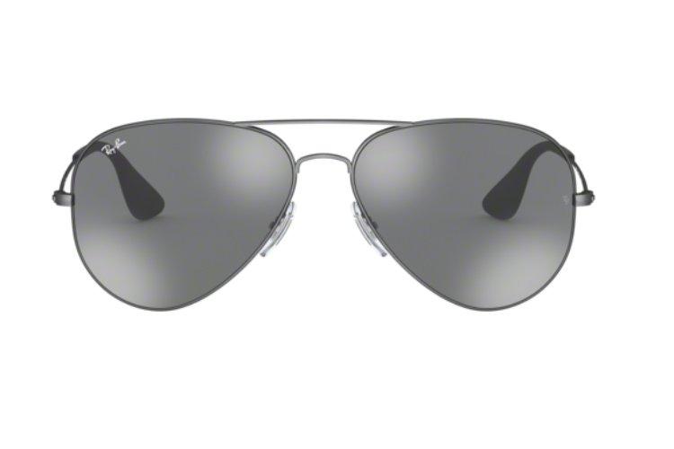 Sonnenbrille Ray Ban Rb3558 Grau Verspiegeltes Glas Silber 91396g Sonnenbrillen & -zubehör Sonnenbrillen