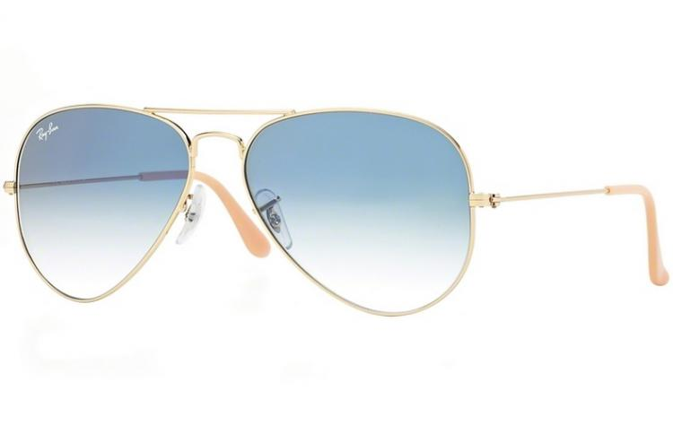 Ray Ban Sonnenbrille Aviator Large Metal RB 3025 0033F Gr.62 in der Farbe silver silber