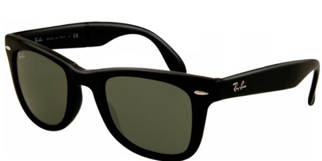 offizielle Fotos limitierte Anzahl beispiellos Ray-Ban Sonnenbrille Folding Wayfarer RB 4105 601S Gr. 50 in der Farbe  Matte Black - matt schwarz